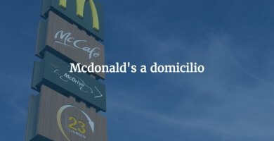 Mcdonald's a domicilio en Madrid